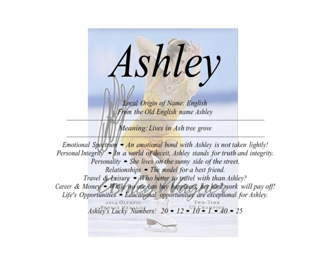 What does ashley mean in french